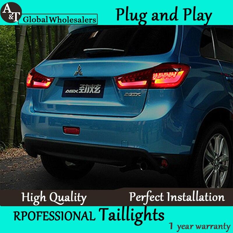 A&T Car Styling for Mitsubishi ASX Taillights 2013-2015 ASX LED Tail Light Outlander Rear Lamp DRL+Brake+Park+Signal car styling asx taillight 2013 2015 free ship 4pcs asx fog light chrome asx tail lamp jimny car detector asx