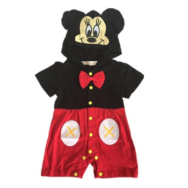 Baby rompers roupas de baby clothes cartoon hoodies spring short sleeve rompers newborn infants jumpsuit kids costumes clothing