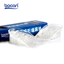 Bocan gel insole elevator shoes insoles invisible transparent massage pad shock absorption elevator adjustable height insole 3cm