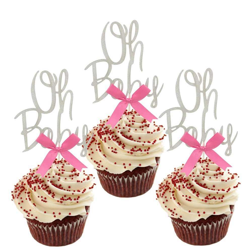 Super 1Pcs Gold Silver Glitter Oh Baby Cake Topper 1St Birthday Cake Birthday Cards Printable Giouspongecafe Filternl