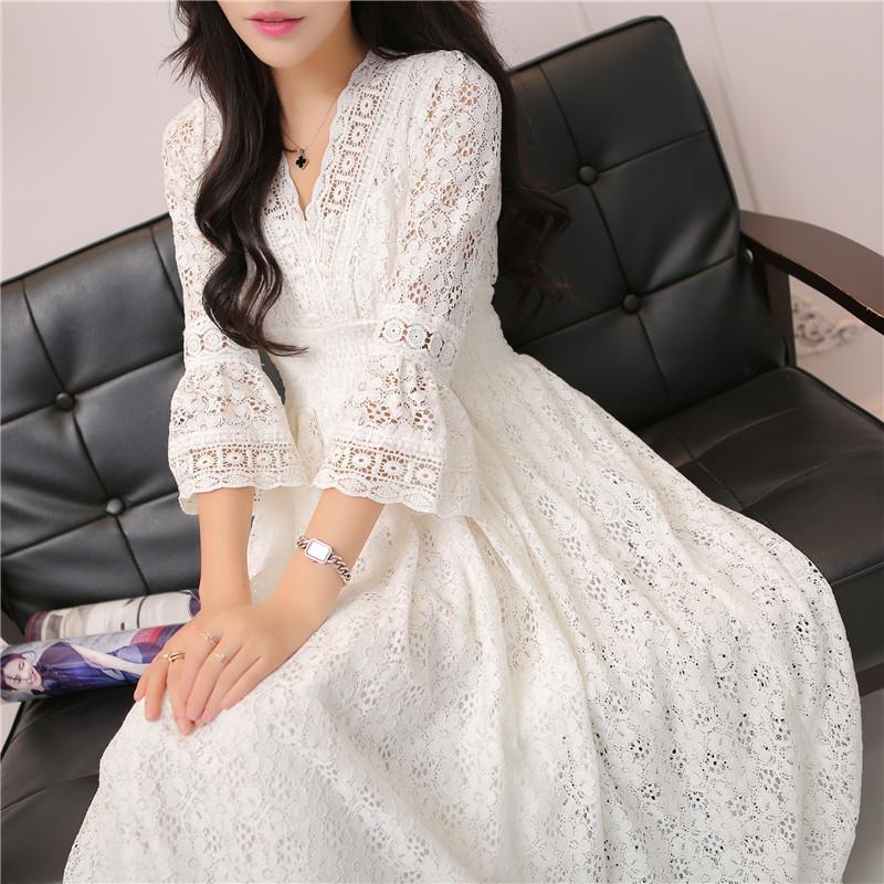 Autumn Casual Vintage Long Elegant Dress Women Maxi Ankle Length Party Festival Prom Gown Female Vestidos