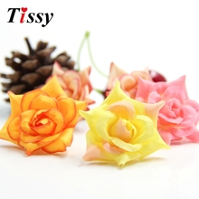 New!20PCS Artificial Silk Rose Flowers Head Fake Flowers For Home Decor Wedding Party Decoration&Wedding Car Corsage Decoration