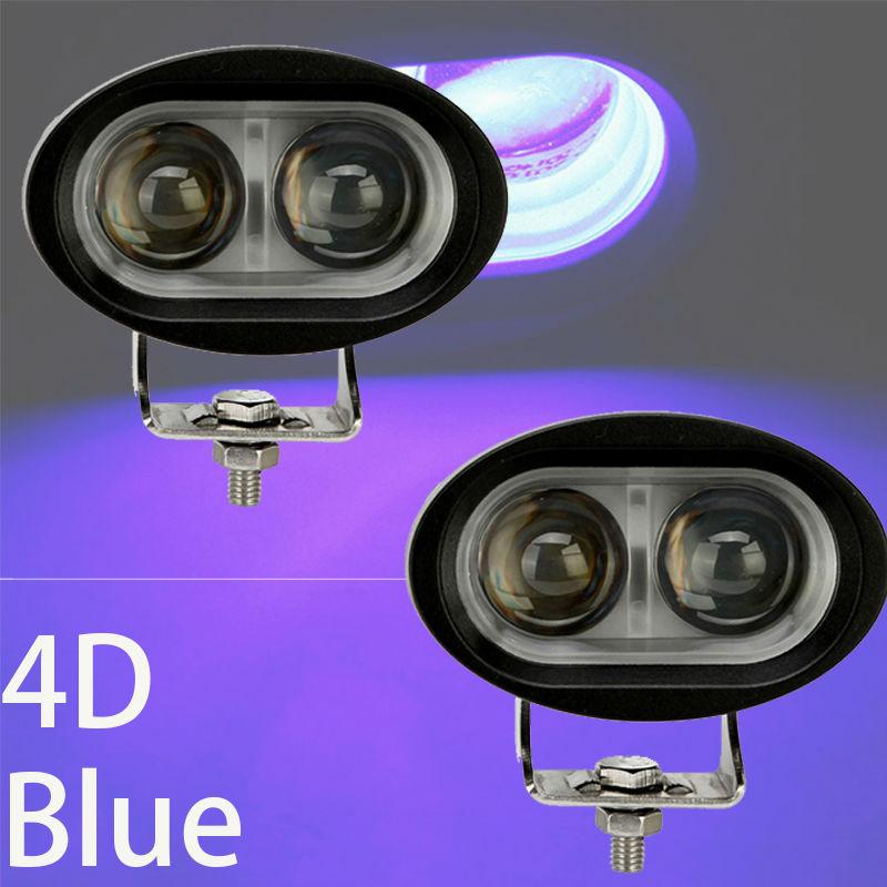 Kék biztonsági pont spotlámpa reflektorfényszóró vezetés - Autó világítás