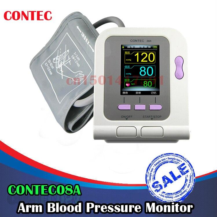 USA Adult CONTEC08A Digital Blood Pressure Monitor Upper Arm NIBP+Software+SPO2 Cuffs USB SpO2 Probe Ox Oxi Meter Oximeter buy monitor usa