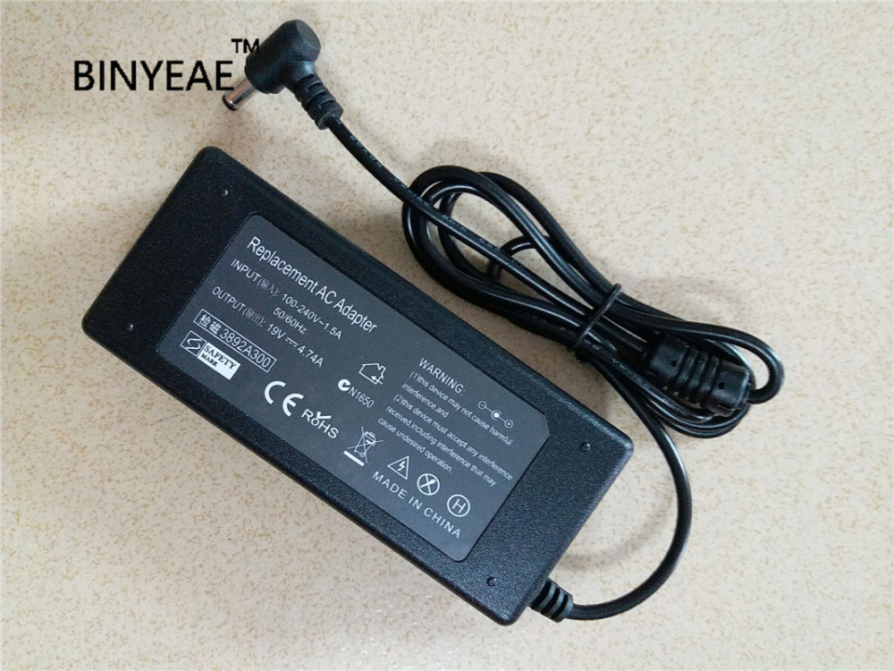 19V 4.74A 90W AC Adapter Battery Charger For Asus X50 X50C X50SL X50M X50N X50R X50SR X50V X50VL X53S Notebook Laptop