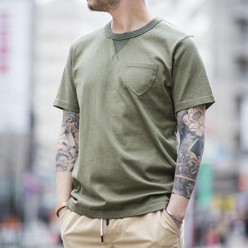 MADEN Men's Regular Fit Ultra Heavy Cotton Short Sleeve Crew Neck Military T-Shirt