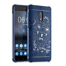 Armor Anti Hit Shock Proof Silicone Case For Nokia 6 3D Curved Dragon Drop Resistance Soft Rubber Matte Frosted Cover Funda Capa