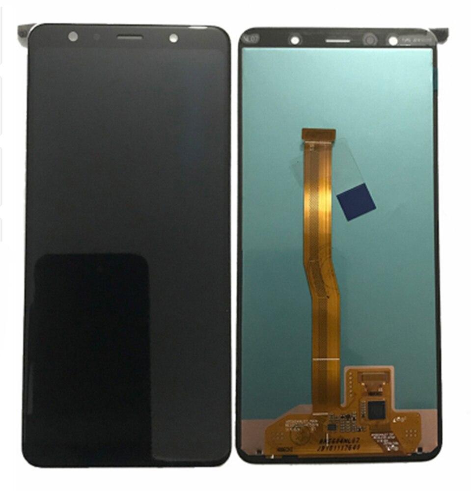 Para samsung galaxy a7 2018 a750 a750f SM-A750F a750fn a750g display lcd + tela de toque digitador assembléia ferramentas gratuitas