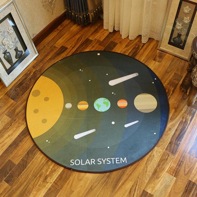 Online Shop Kids room Spacecraft Cosmic Space Carpet Baby Bedroom ...