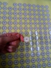 Autocollants détiquette de cadeau de cercle rond de 20MM