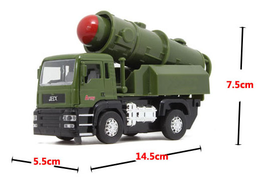 Intercontinental Missile Chariots Alloy Toy Car Model, Mini Diecaset Metal Emulational Car Kids Toys Military