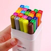 Deli 12 / 24 Color Gel Pen 0.5mm Candy Color Student Gel Pen Can Washing Erasable Pen 1SET