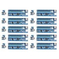 10pcs Lot Upgraded PCI E 1X To 16X Express Riser Card PCI Extender 60cm USB3 0