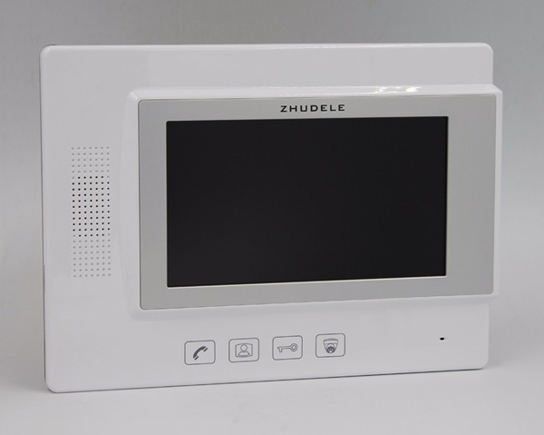 ZHUDELE Multi-Home Video Door Phone Intercom System Doorbell 7 TFT Monitor Support Second Outdoor Unit For 20 Units Apartment