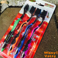 Carbon 4 PCS 20.5cm  toothbrush of bamboo charcoal PBT Teeth stains Teeth cleaning  Free Shipping