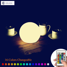 Navidad Luz de La Noche del LED Lámpara de Los Niños de Noche Elegante Decoración Del Hogar RF Control Remoto A Prueba de agua IP68 Piscina Luz de la Bola