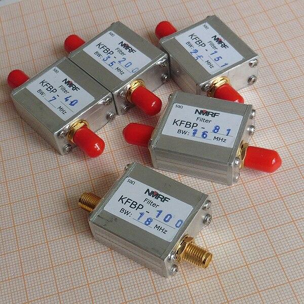 Filtre passe-bande personnalisable de 30-300 MHz, interface SMA