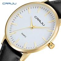 7,5 мм ультра тонкие мужские часы BriefCRRJU Часы Простой бизнес для мужчин кварцевые часы для мужчин роскошный мужской часы reloj hombre