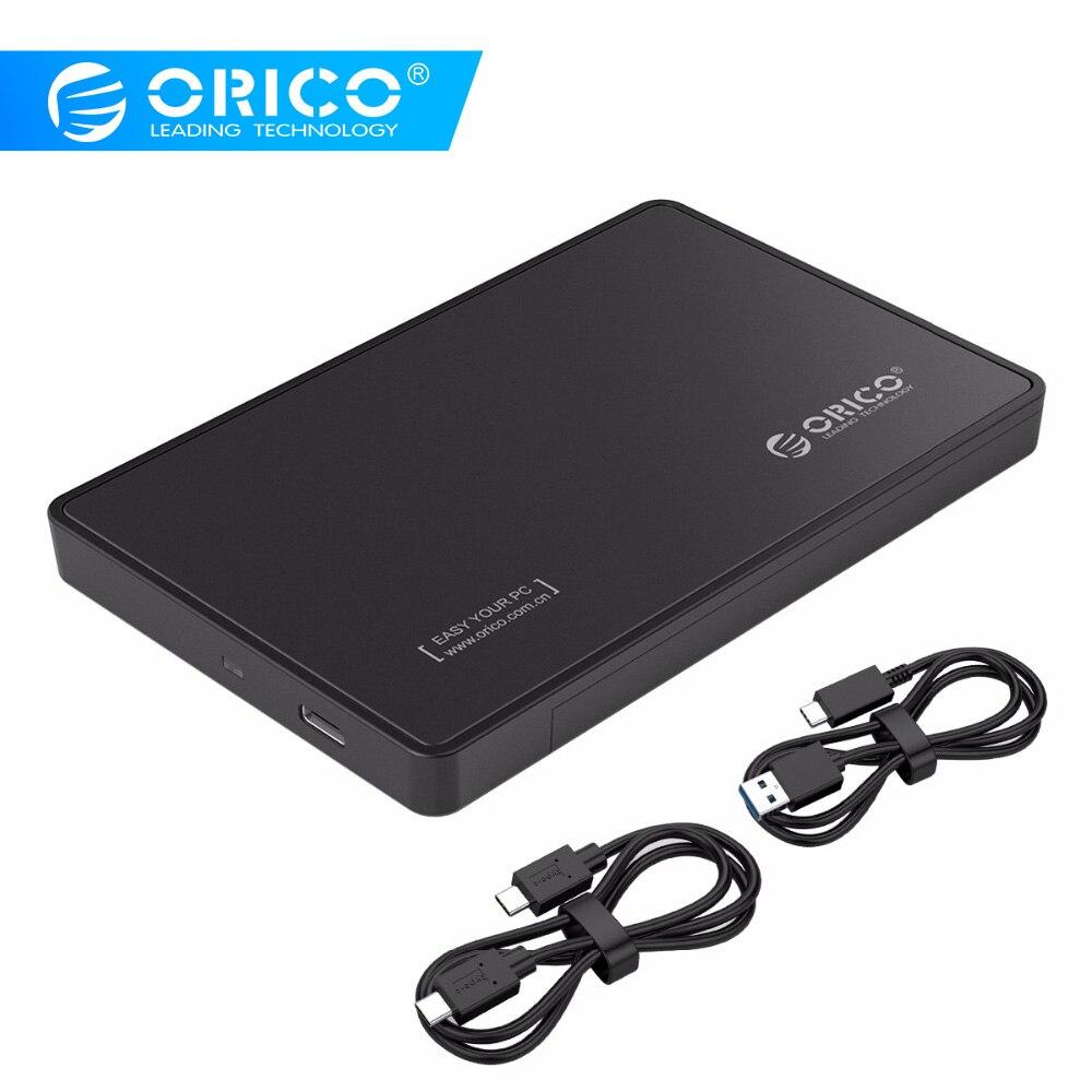Carcasa De Disco Duro ORICO 2,5 Pulgadas Tipo C Carcasa De Disco Duro USB 3,1 Gen2 10Gbps Compatible Con UASP Para 9,5 MM Disco Duro-Negro