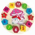 Montessori Rabbit Bunny Shape Sorting Digital clocks Wooden Baby Toys Blocks Math Toys Early Childhood Education Kids Toys