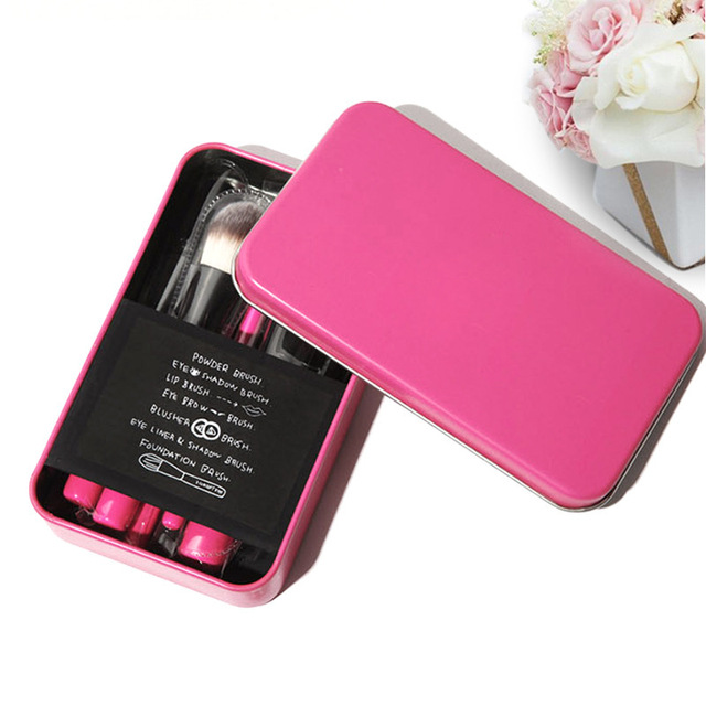 Coreia do Estilo Pincéis de Maquiagem Set 7 pcs 3 Conceito Olhos Professional Make Up Tool kit Escova de Rosto Olho