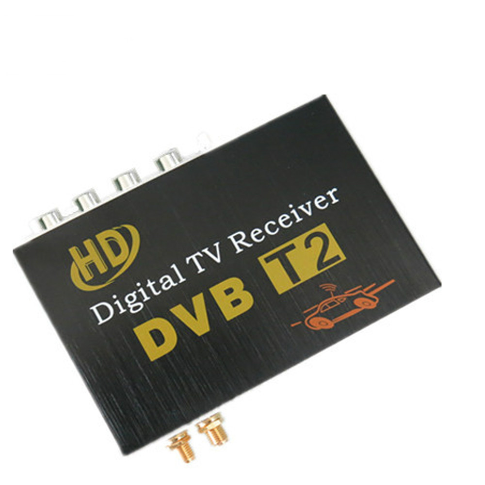 High Speed Car DVB-T2 Digital TV Receiver for Russia, Thailand Columbia Indonesia Singapore with 2 antenna Free Shipping dvb t2 car 180 200km h digital car tv tuner 4 antenna 4 mobility chip dvb t2 car tv receiver box dvbt2