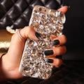 Cubierta de la caja del teléfono de bling del diamante cristalino para el iphone 7 6 6 s plus 5S 5c 4S samsung galaxy note 7 5 4 3 2 borde más s5 s6 s7/4/3 A8/7
