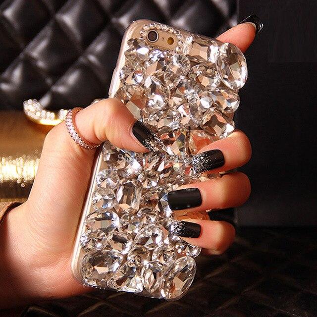 Dote Me Bling Diamante Tampa Da Caixa de Telefone Para O Iphone X 8 7 6 6 S Plus 5 5C 4S Samsung Galaxy Note 8 5 4 3 2 S8/7/6 Borda Mais S5/4/3