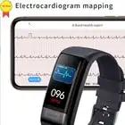 ECG PPG Smart Armband Band Bloeddruk Hartslagmeter Fitness Tracker Polsband voor IOS Iphone android xiaomi mi band 4 - 3