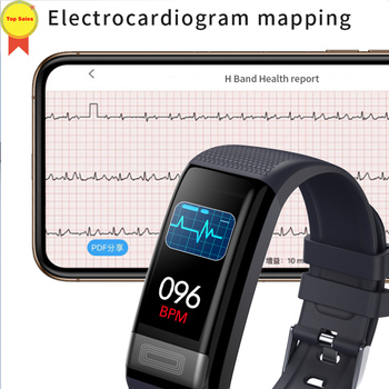 ECG PPG Smart Band Watch Bracelet Blood Pressure Heart Rate monitor Fitness Tracker Sport Pedometer IP67 Waterproof Wristband