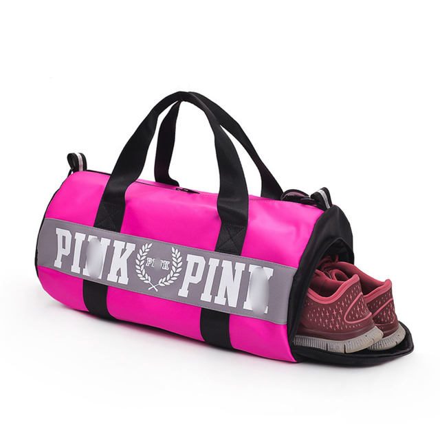 f77da641bada 2018 grey black red Travel Duffel Bag with Shoes Case space Women Travel  Handbags Beach Shoulder