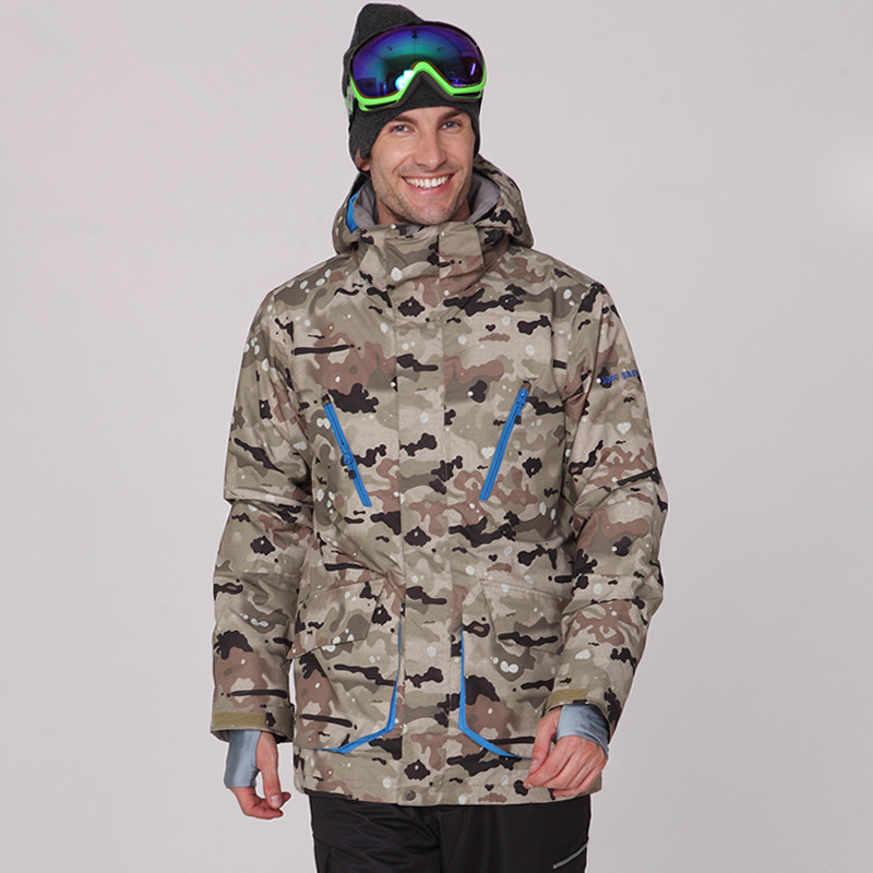 GSOU SNOW winter ski jacket men camo snowboard jackets men warm thermal windproof veste de ski homme