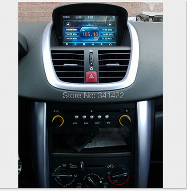 gros 7 polegada cran tactile voiture lecteur dvd gps pour peugeot 207 207 cc 2006 2011 avec. Black Bedroom Furniture Sets. Home Design Ideas