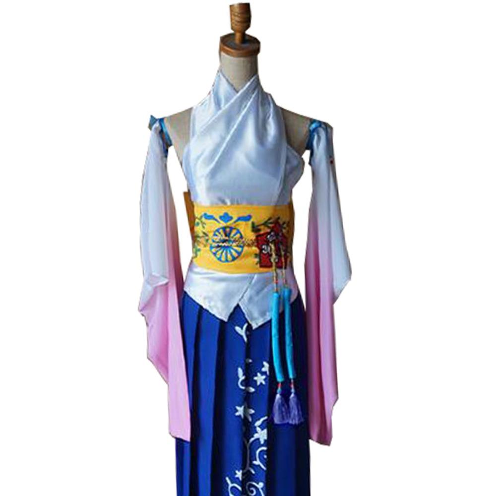 2017 Final Fantasy Ten Yuna Cosplay Summoned Costume Outfit High Quality Same as original Character Any Size image