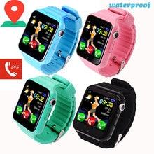 Купить с кэшбэком V7K Kids Smart Watch GPS Baby Tracking SOS Call Location Finder Waterproof with Camera Bluetooth Safety Monitor Sport Wristband