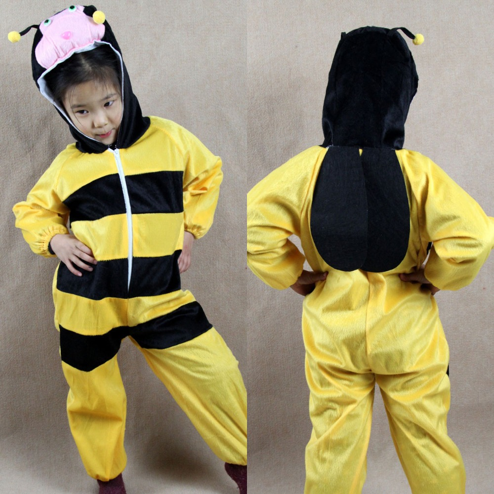 Уморден Мультфильм Boy Girl Жануарларға арналған Bee костюмі Косплей киімі Балаларды қорғау күні Балалар күніне арналған хэллоуин костюмдері