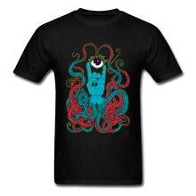 Hamsa Octopus T Shirt For Men Camisa TShirt Fitness Tight Classic O-Neck Sweatshirts Short Sleeve Drop Shipping 100% Cotton Tops