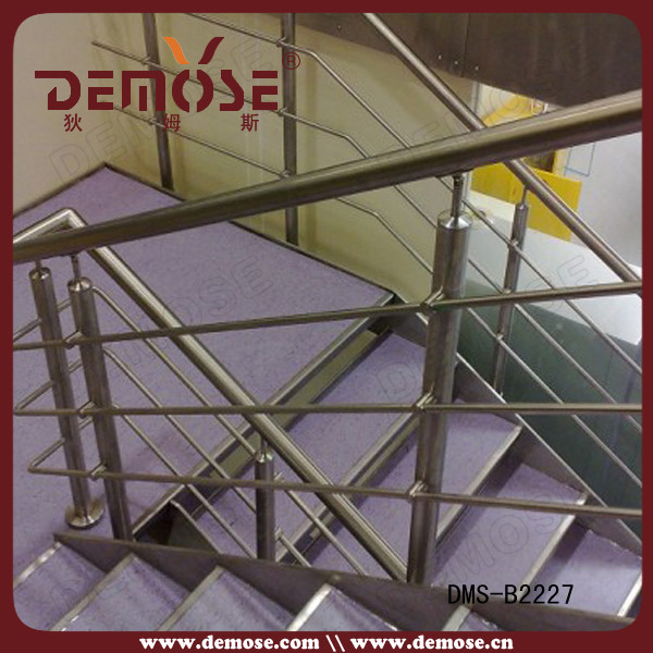 indoor hot selling modern stair wires balustrade/railing ...