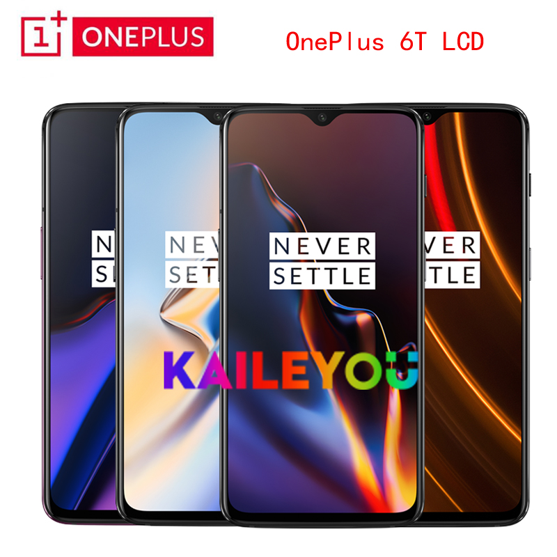 Original 6 41 inch Oneplus 6T AMOLED LCD Display For One plus 6T A6010 A6013 touch