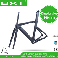 Free shipping New Disc brake carbon road bike frame no logo size 49/51/54cm fit 142*12mm rear axle Bicycle Accessories