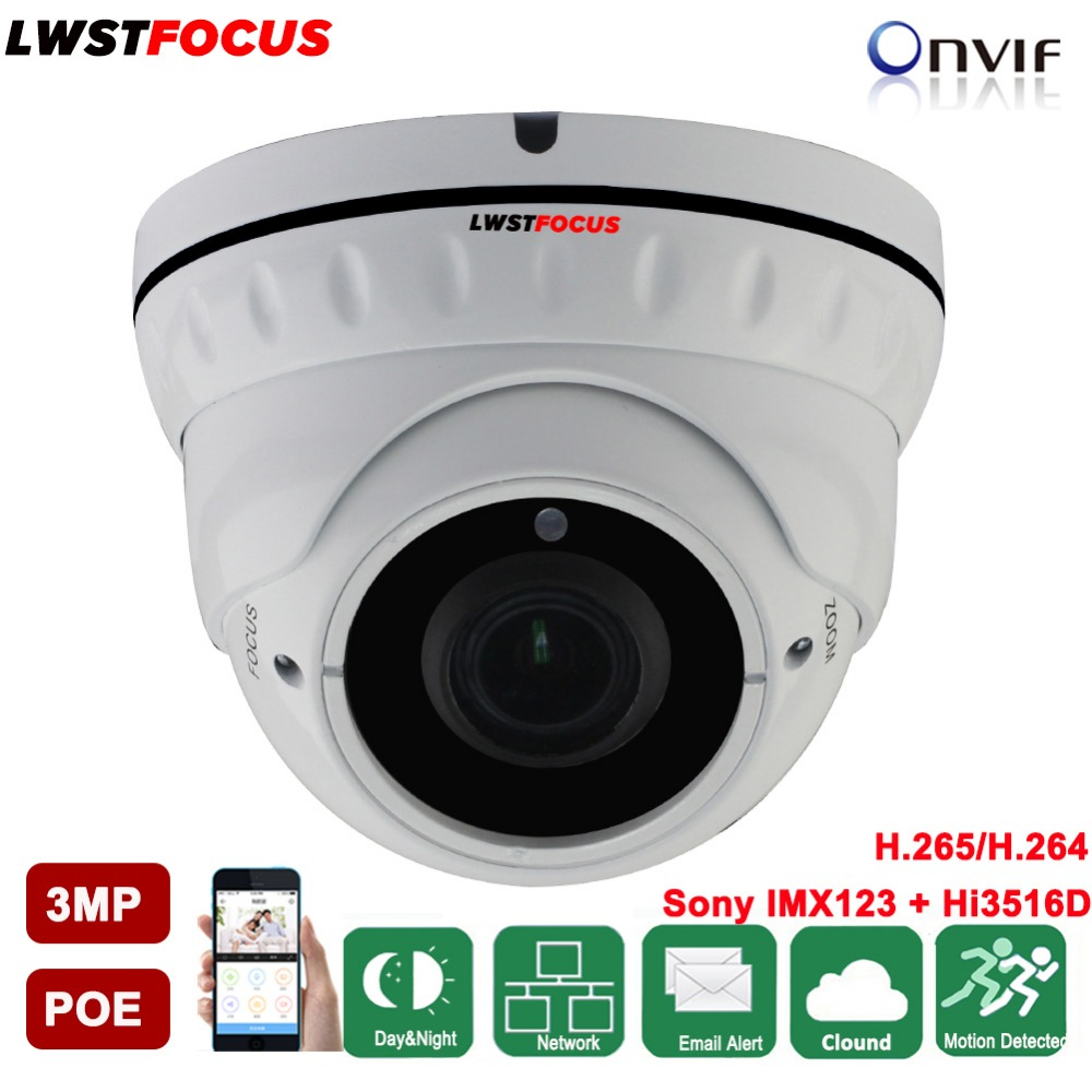 LWSTFOCUS Outdoor IP Camera 3MP Network Dome Camera Support FREEIP Remote View Hikvision Private Protocal POE ONVIF CCTV Camera 5mp super hd 2592 x 1944p network poe outdoor indoor security dome ip camera with hd 6mp 3 6mm lens support hikvision protocal