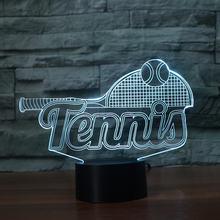 Светодиодный ночник для теннисной ракетки цветная акриловая