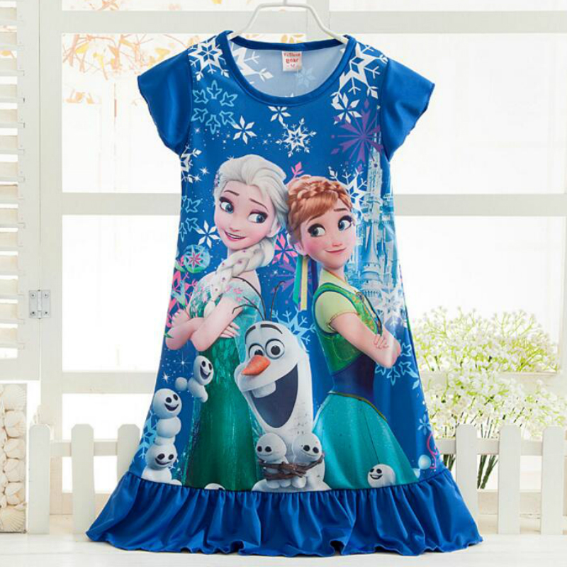 Children Princess Dresses Anna Elsa Girls Dress Snow Queen Girls Night Gown Pajamas Baby Dress Kids Sleepwear Pyjamas Clothes ceraflame турка ibriks new 0 35л шоколад d9365 ceraflame