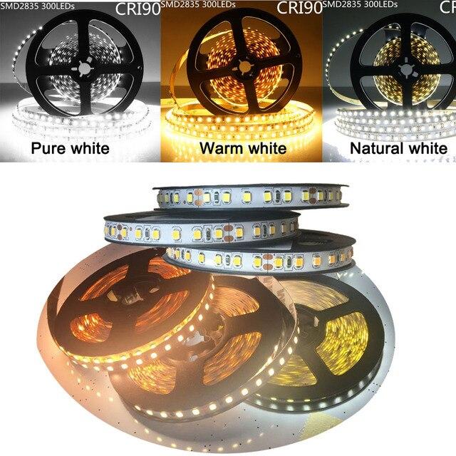 FAI DA TE LED U HOME di Alta CRI RA 90 + LED Luci di Striscia 2835SMD 12V DC 5M 300leds Nonwaterproof illuminazione A LED per le Vacanze Camera Cucina