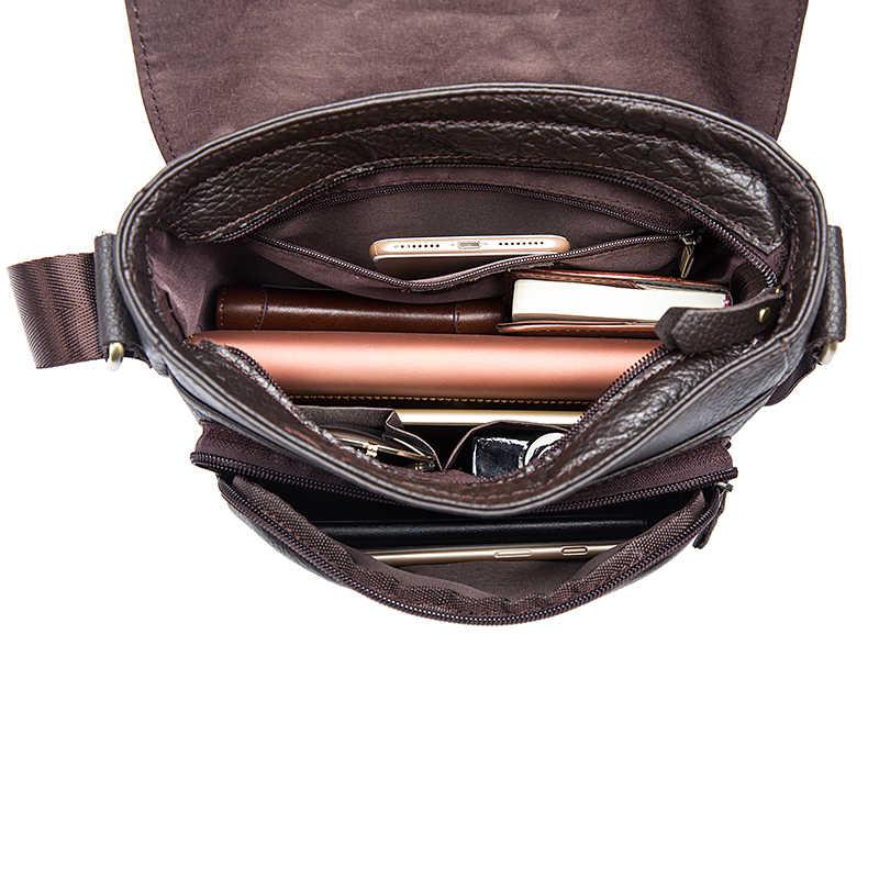MVA Мужская сумка из натуральной кожи мужские сумки через плечо сумка-мессенджер мужские кожаные сумки на плечо мужские сумки 819