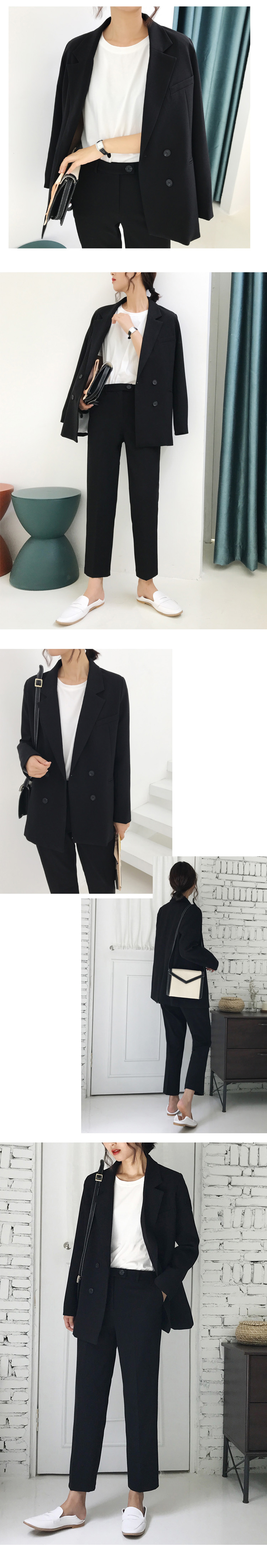 Vintage Double Breasted Women Pant Suit Light Green Notched Blazer Jacket & High Waist Pant Spring Office Wear Women Suits 21