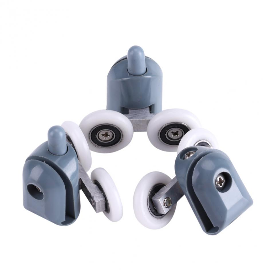 8 x duschtr rollen 4 oberen rollen und 4 unterwalzen mit der schraube und abdeckkappen - Duschtur Rollen