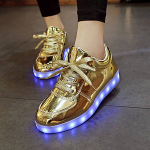 404cfe5235 top 10 new gold silver led light shoes for adults women brands