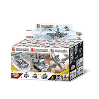9 IN 1 Aircrafts carriers 1001PCS Building Blocks 3 Shapes Changes Each Model Self Locking Bricks with 9PCS Figurines