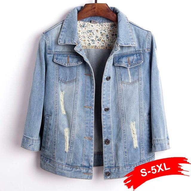 plus size women light blue cropped jean jacket bomber